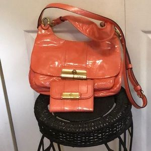 "NWOT COACH PURSE ""KRISTIN"" & MATCHING WALLET!!!"